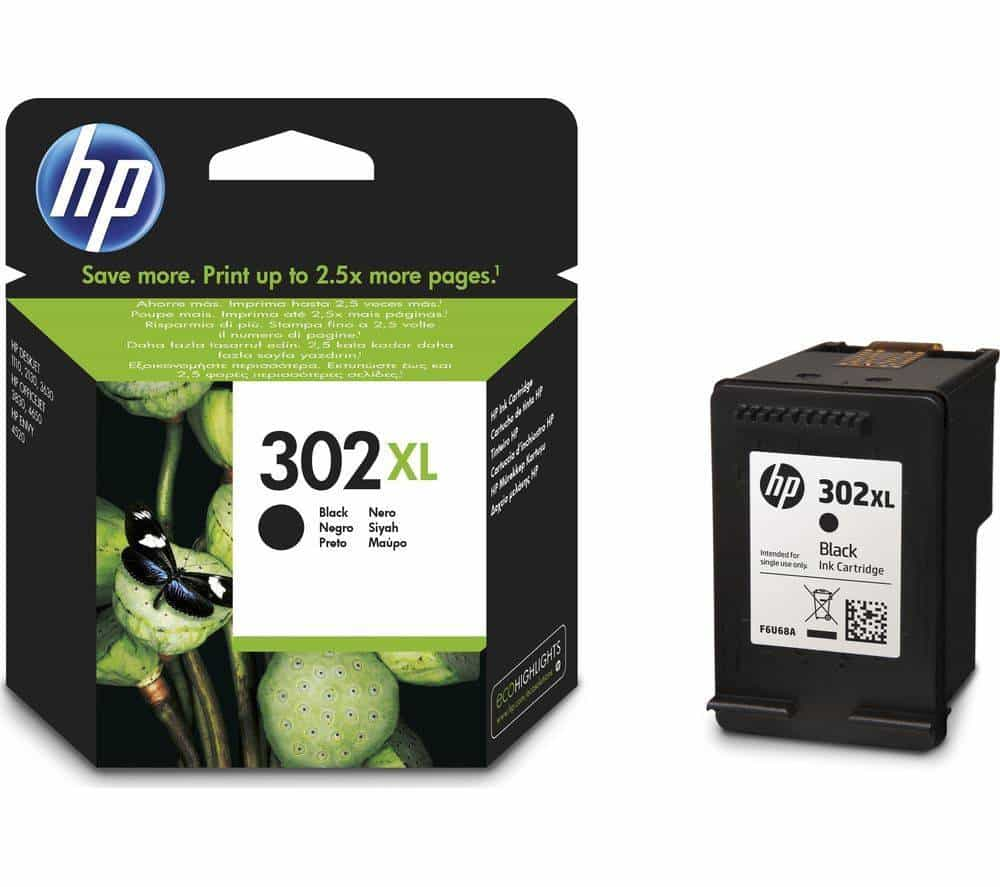 hp black ink 302