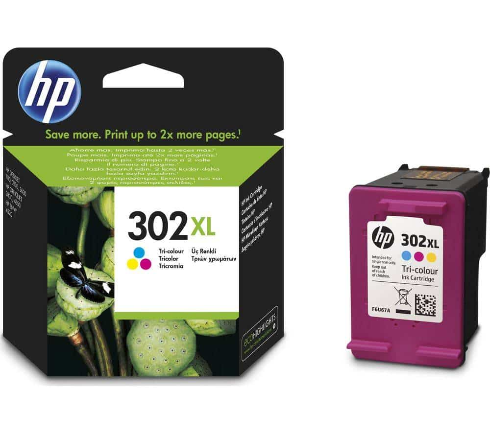 hp 302 xl col ink
